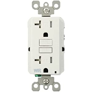 Leviton 7899-KW Test and Reset Buttons Match Face 20-Amp 125