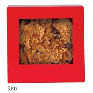 Six Corner Auto Bottom Candy Box - Red - Case of 250