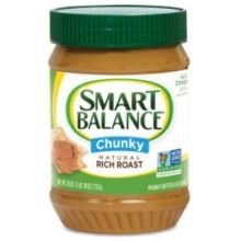 Smart Balance All Natural Rich Roast Chunky Peanut Butter 16 oz (Pack of 12) by Smart Balance
