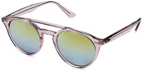 Ray-Ban Injected Unisex Non-Polarized Iridium Round Sunglasses, Pink, 51 - Ban Ray Pink
