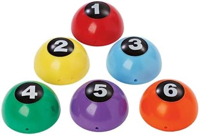 FLAGHOUSE - Inflatable Numbered Domes Set - Spotmarker Alternative - Deflates & Re-inflates - Polyvinyl - Multicolored - Set of 6