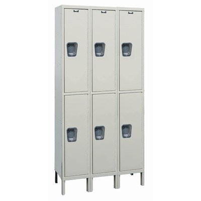 Maintenance-Free Quiet Stock Lockers - Double Tier - 3 Sections (Assembled) (Lockers Tier Double Quiet)