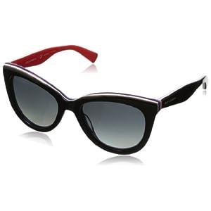 D&G Dolce & Gabbana Women's 0DG4207 Cat-Eye Polarized Sunglasses,Black on Red,55 mm