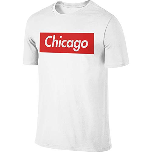STDONE Man Designed Cool Tees Chicago Reigns Supreme T-Shirts White