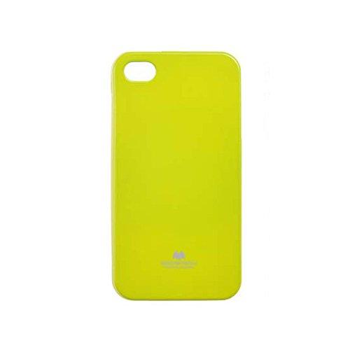 Premium Jelly Case Gummihülle Silikonhülle Gummi Silikon Schale Schutzschale Schutzhülle Hülle für iPhone SE 5 5S Lemon Neon Grün mit eingearbeitetem feinem Glitzerstaub