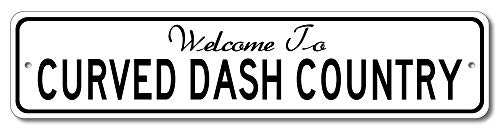 Oldsmobile Curved Dash - Welcome to Car Country Sign - Aluminum 4