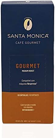 Cápsulas de Café Gourmet Medium Roast Santa Monica, Compatível com Nespresso, Contém 10 Cápsulas
