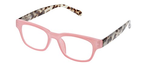 Peepers Women's Vintage Vibes - Pink/Gray Tortoise 2511125 Wayfarer Reading Glasses, Pink & Gray Tortoise, 1.25