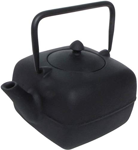 (A'Domo PV-GIF-6401 Point-Virgule Square Teapot with Filter 1L, Cast Iron,)