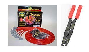 Taylor Cable 83251 Red Universal ThunderVolt 8.2 Ignition Wire Set