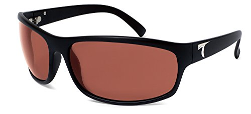Typhoon Men's Harbor Polarized Sunglasses,Black Frame/Copper/Rose Lens,one - Typhoon Eyewear