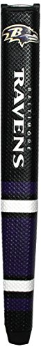 Team Golf NFL Baltimore Ravens Golf Putter Grip with Removable Gel Top Ball Marker, Durable Wide Grip & Easy to Control