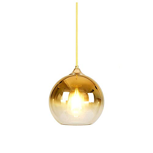 Wsxxn Modern Two-Tone Chandelier Hanging Lamp with Clear Glass Ball, Ceiling Pendant Light (Color : Gold, Size : ()