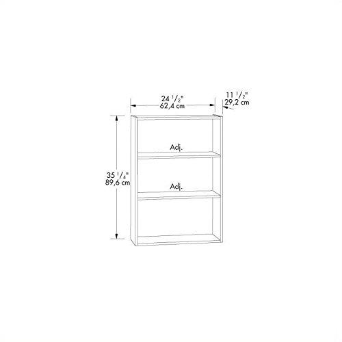 042666133456 - Sauder Beginnings 3-Shelf Bookcase in Cinnamon Cherry carousel main 2