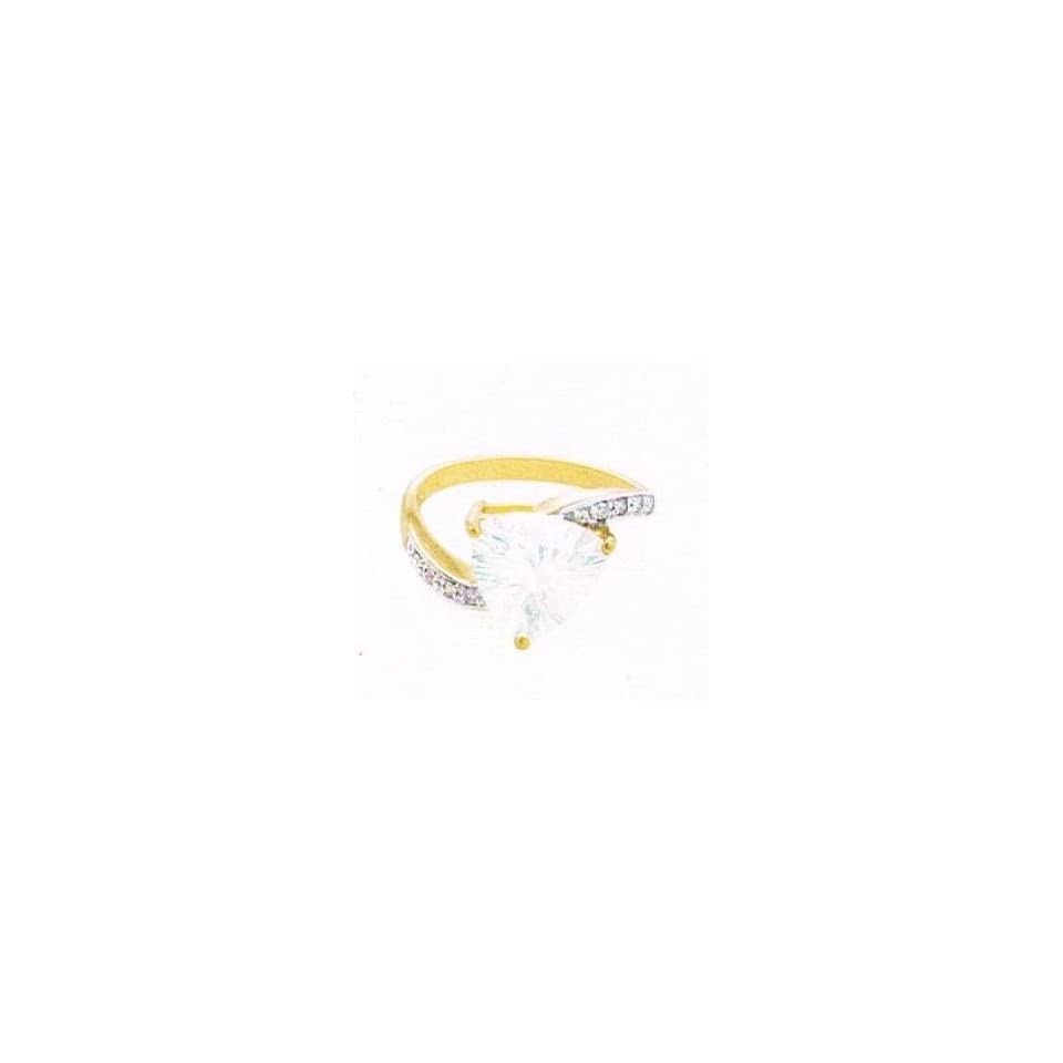 14k Blue Moon Quartz & Diamond Yellow Gold Ring Size 8
