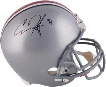 Carlos Hyde signed Ohio State Buckeyes Mini Helmet #34- Hologram - JSA Certified - Autographed College Mini Helmets