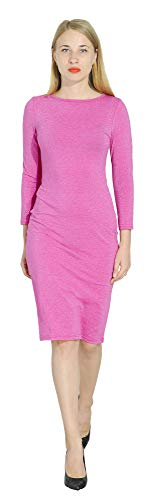 (Marycrafts Women's Glitter Formal Cocktail Party Guest Dress M Hot Pink)