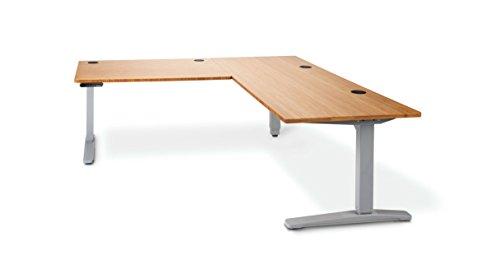 alder top shaped standing shop adjustable electric build uplift dark stand solid desk desks leg wood sit l height left