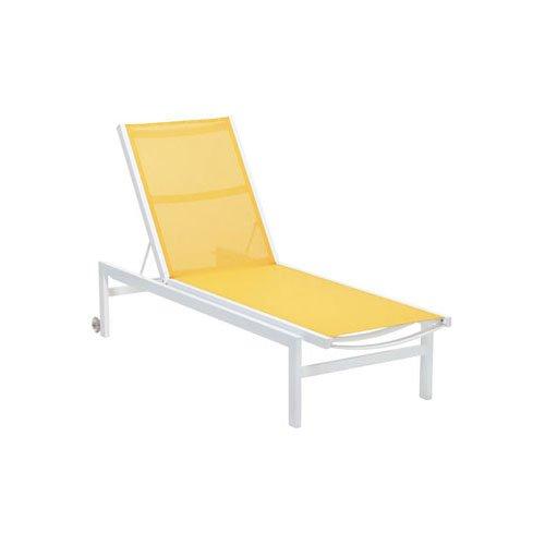 Finnsa Riviera Alu Liege gelb/Gestell weiß