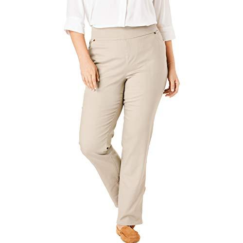 Woman Within Women's Plus Size Straight Leg Smooth Waist Jean - Natural Khaki, 18 W ()
