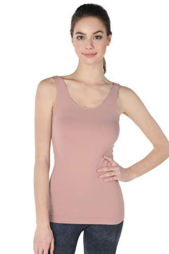 NIKIBIKI Women Seamless Premium Classic Tank Top, Made in U.S.A, One Size (Dusty Rose)