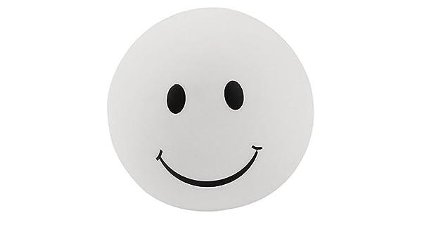 La cara sonriente de impresión de PVC Modo 7 Linterna luz de la noche Negro Blanco - - Amazon.com