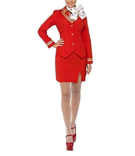 Zombie Flight Attendant Costume (Trolley Dolly Stewardess Flight Attendant Adult)