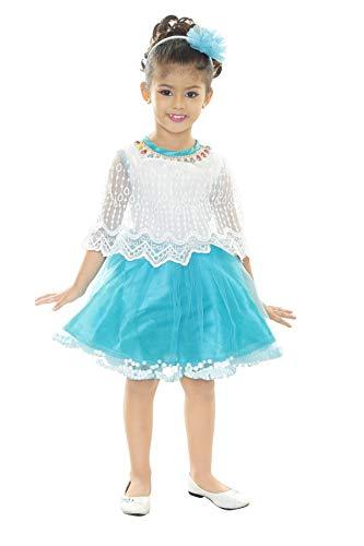 Bachcha Girls Midi/Knee Length Party Dress  Multicolor, Fashion Sleeve
