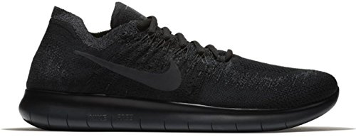 Nike Mens Free RN Flyknit 2017 Running Shoes Black/Anthracite 880843-010 Size 10