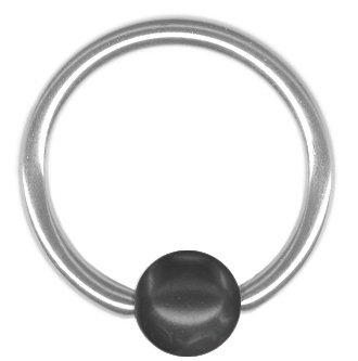 One Black Imitation Pearl Captive Bead Ring-18g-5//16 inch-8mm-Ear Piercing Hoop Body Jewelry