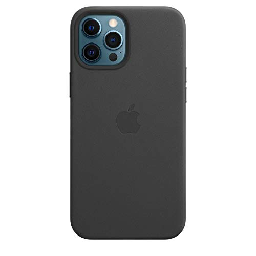 iPhone 12 Pro Max Leather Case with MagSafe - Black - ZEE