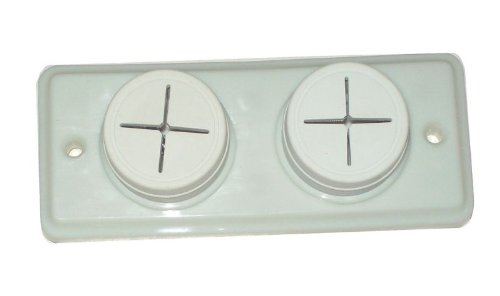 Double Or Triple Push In Rubber Tea Towel Holder Off White (Double) Unknown