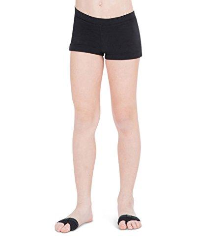Pants Girls Jazz (Capezio Big Girls' Boy Cut Low Rise Short,Black,M (8-10))