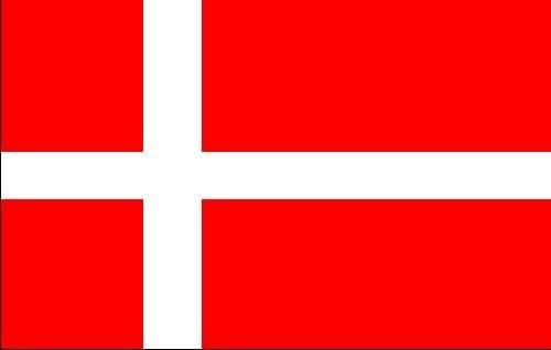 op Calidad - Bandera de Dinamarca, 250 x 150 cm, Extremadamente ...