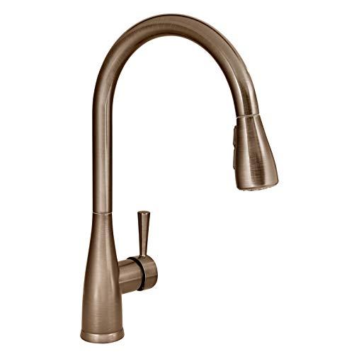Mirabelle MIRXCCA100SS Calverton Pullout Spray Kitchen Faucet with High Arch Gooseneck Spout