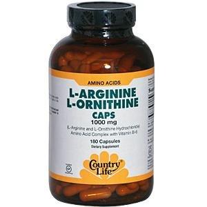 Country Life L-Arginine/L-Ornithine, 180 capsules