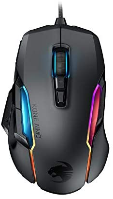 ROCCAT Kone AIMO Gaming Mouse (High Precision, Optical Owl-Eye Sensor (100 to 16.000 DPI), RGB Aimo LED Illumination, 23 Programmable Keys, Designed in Germany) Black (Remastered)
