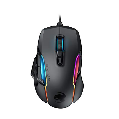ROCCAT Kone AIMO Gaming Mouse (High Precision, Optical Owl-Eye Sensor (100 to 16.000 DPI), RGB Aimo LED Illumination, 23…