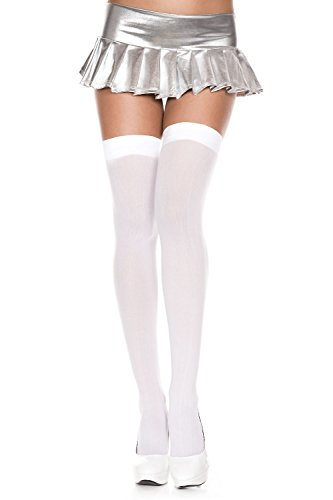 The Lovely Women's Opaque Nylon Thigh High Stockings -