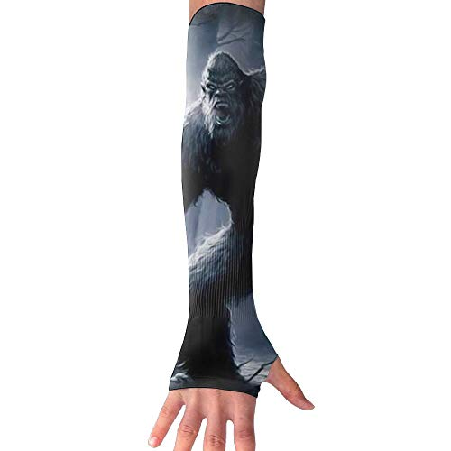 ZHIYANG Big Foot Super Long Fingerless Anti-uv Sun Protection Sleeves for Outdoor Activities Apply to Camping,Driving,Cycling Arm Prevent Injuries Modeling Classic by ZHIYANG
