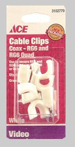 (Cd/6: Ace Nail-in Rg6 Coax Cable Clips (3102779))