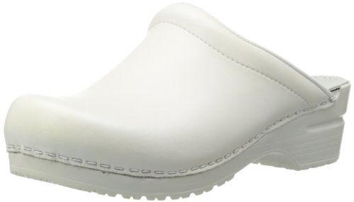 Sanita Women's Sonja PU Open Clog,White,41 EU/10.5-11 M US by Sanita