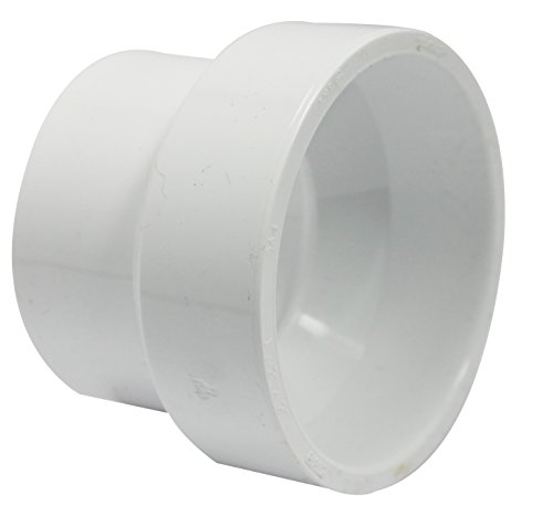 Canplas 193022 PVC DWV Reducing Coupling, 2 x 1-1/2-Inch, White ()