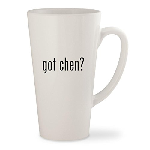 got chen? - White 17oz Ceramic Latte Mug (Paul Chen Knife)