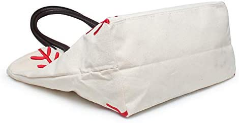 YIQIGO Baseball Bag Handbag for Woman Shopping Bag Travel Bag Canvas Casual Bag with Polyester Linning Sports Bag