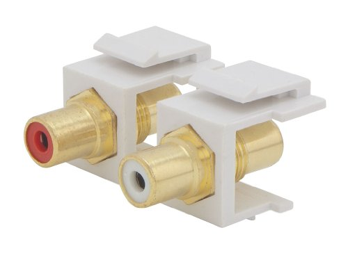 Ethereal ICARUS IHT-RCAKSWA RCA Keystone Inserts With White/Red Bands - White (2 Pack)