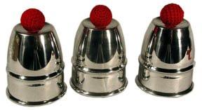 Magic Cups And Balls - Magic Trick Cups and Balls - Aluminum