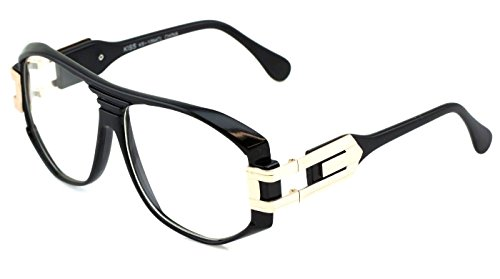 Gazelle Grandmaster Hip Hop Clear Lens Sunglasses (Black & Gold, - Sun Glasses Hip Hop