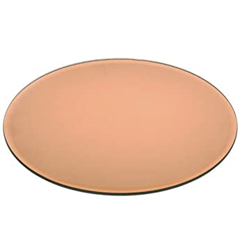 Amazon.com: Kabalo Round Copper Mirror Glass Plate for Candle ...