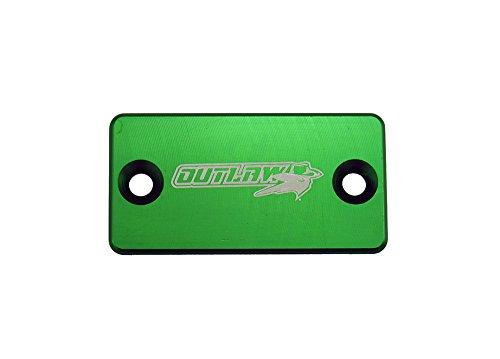 - Outlaw Racing Billet Front Master Cylinder Reservoir Brake Cap KAWASAKI KX KDX KLX (Green)